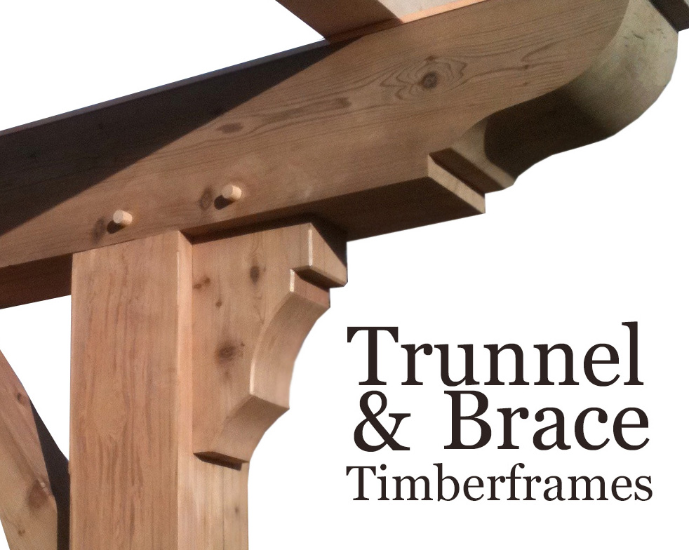 Trunnel and Brace Timberframes construction of Colorado